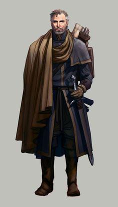 m Rogue Thief Explorer Leather Armor Cloak Sword Maps traveler Fantasy Male, Fantasy Warrior, Fantasy Rpg, Medieval Fantasy, Fantasy Artwork, Dark Fantasy, Fantasy Character Design, Character Creation, Character Design Inspiration