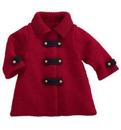 Modelo de bebé abrigo rojo - Patrones que hacen punto para bebés - Phildar