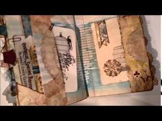 Altered Composition Book transformed - part 3 - into a Vintage Junk Journal - Flip through - YouTube