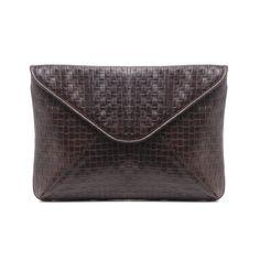 An-j Brown Clutch Bag | Laura De La Vega