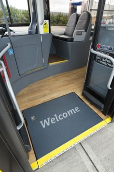 A nice warm and safe welcome from Yellow Bus and Altro Transflor Timbersafe II