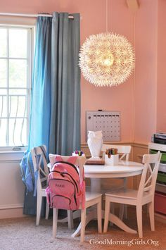 Ikea inspired homeschool room from GoodMorningGirls.Org