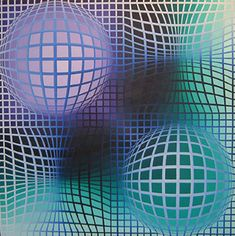 The ~ Artworks of Victor Vasarely Victor Vasarely, Op Art, Tech Art, Dot Art Painting, Spirited Art, Kinetic Art, Popular Art, Illusion Art, Art Abstrait