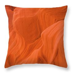 Fire Waves Throw Pillow featuring the photograph Fire Waves by Elena Chukhlebova #pillow #cushion #orange #elenachukhlebova