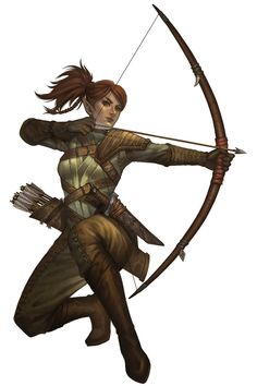 f High Elf Rogue Thief Leather Armor Longbow Shortsword d&d RPG female character lg Dungeons And Dragons Characters, D&d Dungeons And Dragons, Dnd Characters, Fantasy Characters, Female Characters, Fantasy Warrior, Fantasy Rpg, Female Character Design, Game Character