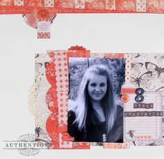 """Nathalie Dever: AUTHENTIQUE PAPER: Scrapping """"Carefree"""""""