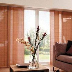 window treatment for sliding glass door with wooden blinds hasslefree window treatment for - Sliding Glass Door Window Treatments