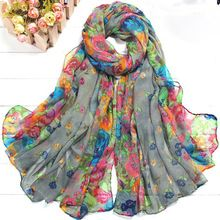 Cheap scarf woolen, Buy Quality scarf patterns for kids directly from China scarf box Suppliers: EAS Women's Spring Autumn Soft Big Long Scarf Vintage Printing Scarves Wrap Clothing, Spring Scarves, Winter Scarves, Cotton Scarf, Floral Scarf, Grey Fashion, Style Fashion, Fashion Women, Fall Fashion