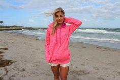 Electric Pink Devocean Hoodie | 20% of net profits from this sweatshirt go directly towards Sea Turtle Rescue Programs