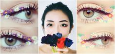 Make up : le flower eyeliner ou la tendance beauté qui tombe à pic pour le printemps