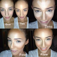 étapes maquillage contouring