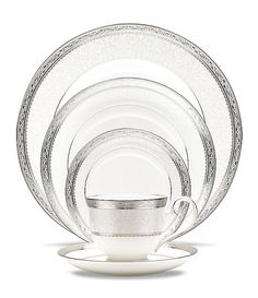 Noritake Odessa Platinum China place setting 5 piece $100