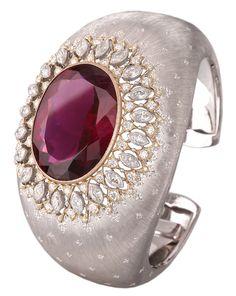 The Rising Demand for Pink Tourmaline Buccellati Dream Cuff, white & yellow gold, tourmaline & diamonds