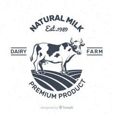 Cow Logo, Farm Logo, Logo Smile, Milk Brands, Milk Packaging, Milk Splash, Glass Milk Bottles, Hand Drawn Logo, Branding