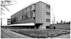 """Bauhaus (1919 – 1933) Bauhaus, was an art school in Germany that combined crafts and the fine arts, At that time the German term Bauhaus, literally meant """"house of construction"""", and was understood as meaning """"School of Building"""". The Bauhaus had a profound influence upon subsequent developments in art, architecture, graphic design, interior design, industrial design, and typography."""