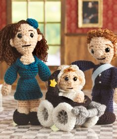 The Royal Family Amigurumi - I guess you know you're really popular when people start crocheting the likenesses of you and your family.