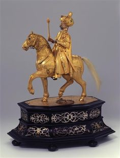 "The clockwork automaton ""The Riding Turk"", ca. 1585, probably made in Augsburg. At Staatliche Kunstsammlungen Dresden."