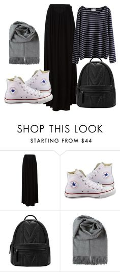 """hijab day"" by azranumanovic ❤ liked on Polyvore featuring Just Cavalli and Converse"