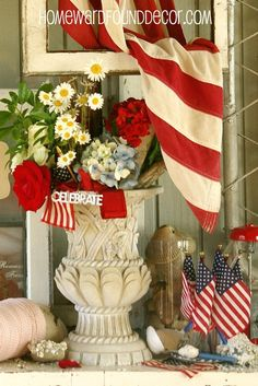 Patriotic decor ideas and more on my July inspiration board - don't miss it! http://pinterest.com/debkennedy/july-decor-sweet-summertime/