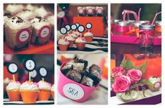 "¡Miren que belleza y que ricura! Mesa de dulces preparados por ""Desserts in a jar"". Feliz de poder capturar ese momento."
