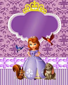 Sweet Sofia the First: Free Printable Invitations and Candy Bar Labels. Princess Sofia Invitations, Princess Sofia Birthday, Sofia The First Birthday Party, Birthday Invitations, Tangled Birthday, 7th Birthday, Free Printable Invitations, Party Printables, Easter Printables