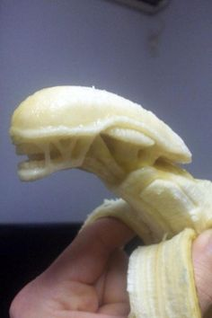 Alien Vs. Predator Banana by iCandyCum.deviantart.com on @deviantART