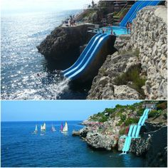 Sicily in your travel plans? This has got to be one of the best water slides ever! http://www.cittadelmare.it/en/resort-sicily.html