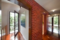 Exposed #Redbrick walls always causes of attraction because it's really looking amazing and adding character to the interior & sometimes gives historical buildings feelins. Try #uPVC for Window if you want a different view with perfection.