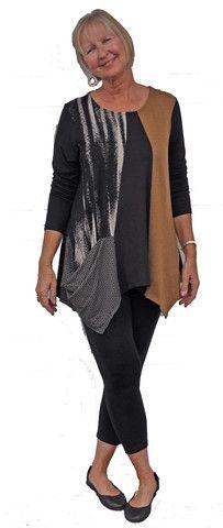 Alembika assymetrical pocketed tunic