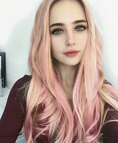 💟 Goth Beauty, Hair Beauty, Cute Emo Girls, Synthetic Lace Front Wigs, Aesthetic Girl, Woman Face, Beautiful Eyes, Pink Hair, Pretty Hairstyles