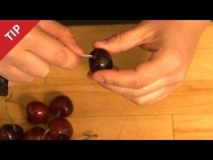 Here's an easy way to to pit cherries. All you need is a paperclip - yes, you read right. A paperclip.