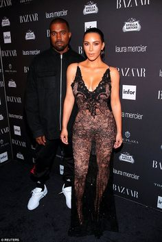 Her parents: Mom Kim Kardashian and dad Kanye West at the Harper's Bazaar Icons…