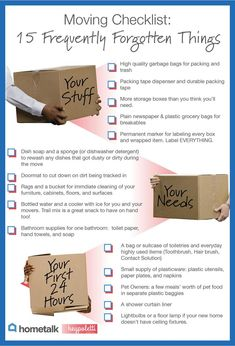 Great list to help you keep your sanity in moving. 15 Frequently Forgotten Items On Your Moving Checklist. If you like this, youll love our FREE tip sheet: Moving Made Easier Tip sheet . Moving House Tips, Moving Day, Moving Tips, Moving Hacks, Moving Across Country Tips, Moving Cross Country, Move On Up, Big Move, Moving Organisation