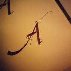 sketching Å #lvsc #calligraphy
