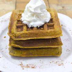 Paleo Pumpkin Protein Waffles