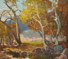 Franz Bischoff Woodland-Brook Oil Painting