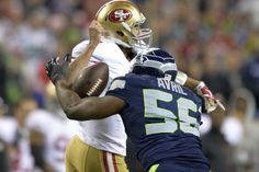 Cliff Avril sacks Kaepernick, forcing a fumble
