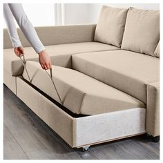 Ikea Friheten Corner Sofa Bed With Storage Skiftebo Beige