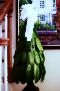 unique and creative christmas tree: magnolia cone tree