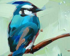 Paruline n 28 oiseau Art Arint par Angela par prattcreekart