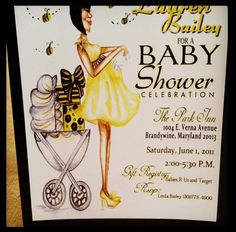 Bumble MomtoBee Baby Shower Invitations by jakardesigns on Etsy, $39.00