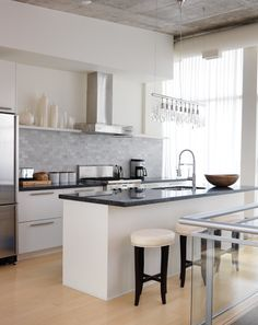 Kitchen wish list: 1. Stainless steel appliances 2. Adequate counter space for cooking 3. Kitchen island for cooking & dining 4. Granite counter tops