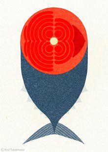 Wonderful illustration by contemporary Japanese artist Ryo Takemasa. Art And Illustration, Food Illustrations, Graphic Design Illustration, Graphic Art, Creative Illustration, Japanese Design, Japanese Art, Japanese Embroidery, Art Graphique