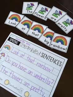 FREE Scrambled Sentences for Spring!