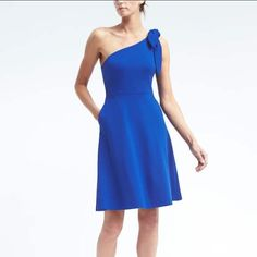 Banana Republic  One Shoulder Pointe Fit & Flare
