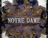 notre dame football wreath - Google Search