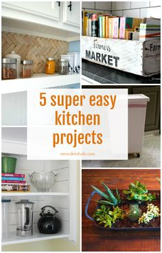 5 Super Easy Kitchen Projects @Remodelaholic