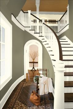 Stairway to loft idea & colors