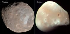 The Moons of Mars; Phobos and Deimos, two of mythology's most devious characters. So why were these two moons named after them? Find out! Curiosity Mars, Curiosity Rover, Dwarf Planet, Red Planet, Moon Information, Mars Moons, Water On Mars, Moon Names, Mars