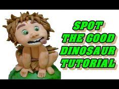 How to make SPOT the good dinosaur cake topper fondant - il viaggio di Arlo pasta di zucchero torta - YouTube